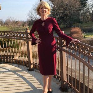 Maggy London Burgundy Dress